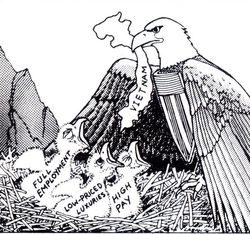 American eagle feeding the country at other nation's expense