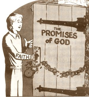 Faith opens the door of the Promises of God!