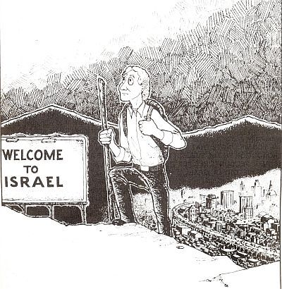David leaving Israel after finding the truth about who the real Jews are.