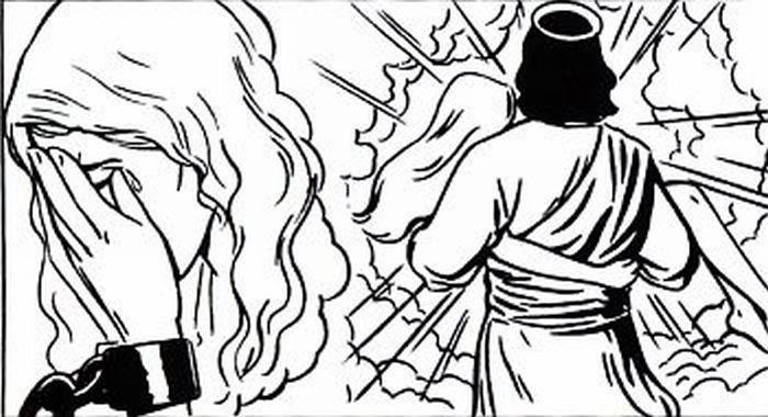 Jesus saving a young lady.