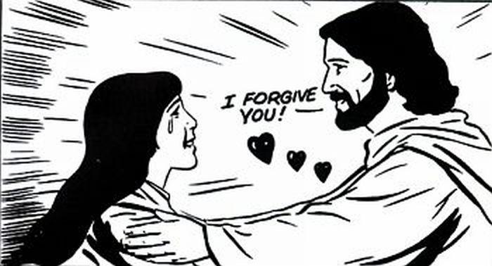 Jesus forgiving a woman!