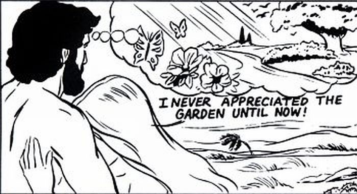 Adam and Eve in the Garden.