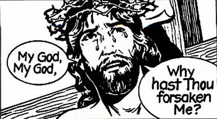 Jesus crying to His Father on the cross!