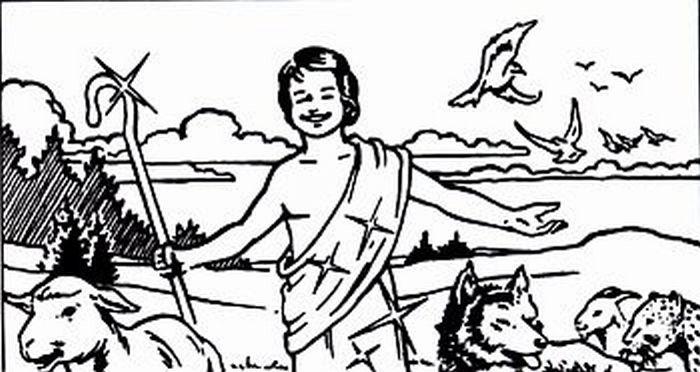 A happy shepherd boy.