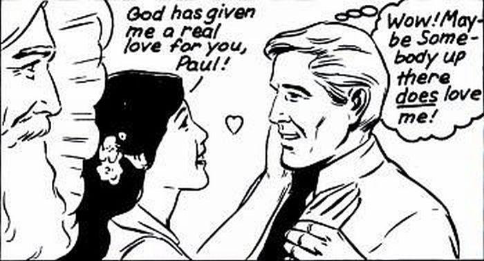 God's love for man through a woman