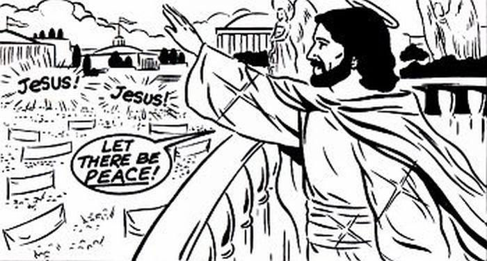Jesus greeting the world!