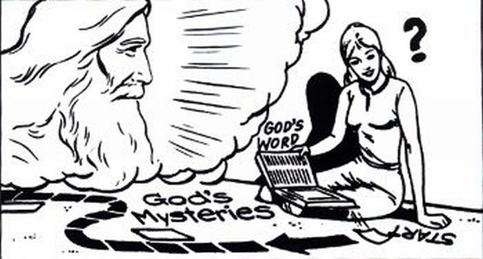 God's mysteries.