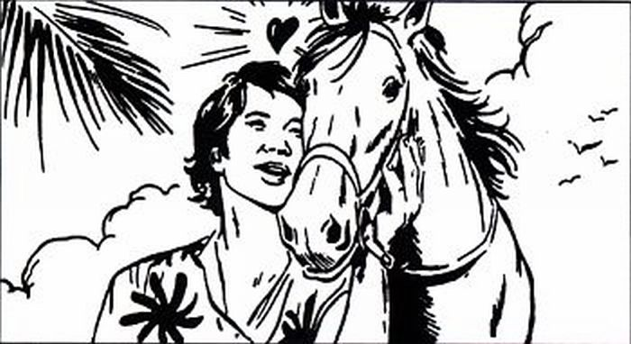 Man showing affection to his horse