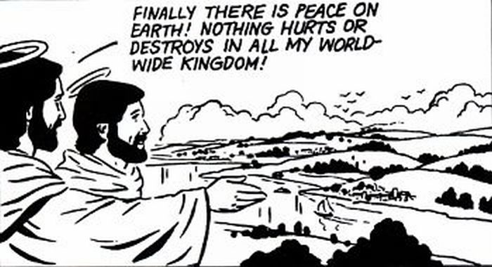 Jesus establishes peace on earth!