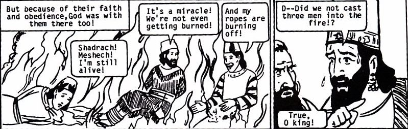 Delivered From The Fiery Furnace A Comic Tract Of Daniel
