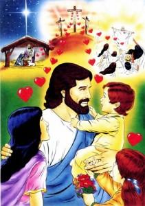 Jesus holding boy